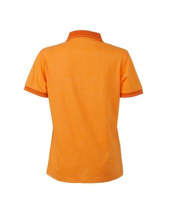 Women-Polo-Shirt-Orange-Melange-DarkOrange-T-Shirt-JN-705-2