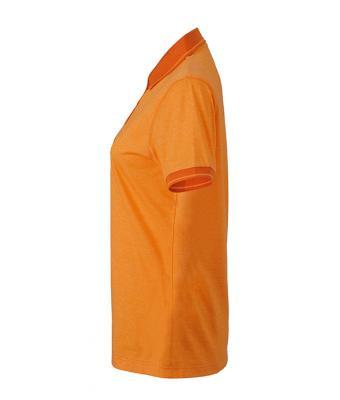 Women-Polo-Shirt-Orange-Melange-DarkOrange-T-Shirt-JN-705-3