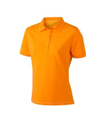 Women-Polo-Shirt-Orange-T-Shirt-JN-568-1