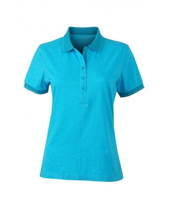 Women-Polo-Shirt-Turquoise-Melange-Turquoise-T-Shirt-JN-705-1