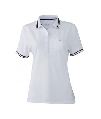 Women-Polo-Shirt-White-Black-T-Shirt-JN-701-1
