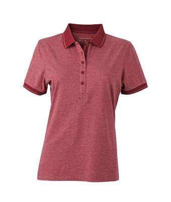 Women-Polo-Shirt-Wine-Melange-Wine-T-Shirt-JN-705-1