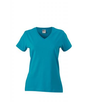 Women-t-shirt-Caribbean-Blue-T-Shirt-JN-972-1
