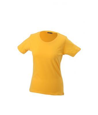 Women-t-shirt-Gold-Yellow-T-Shirt-JN-901-1