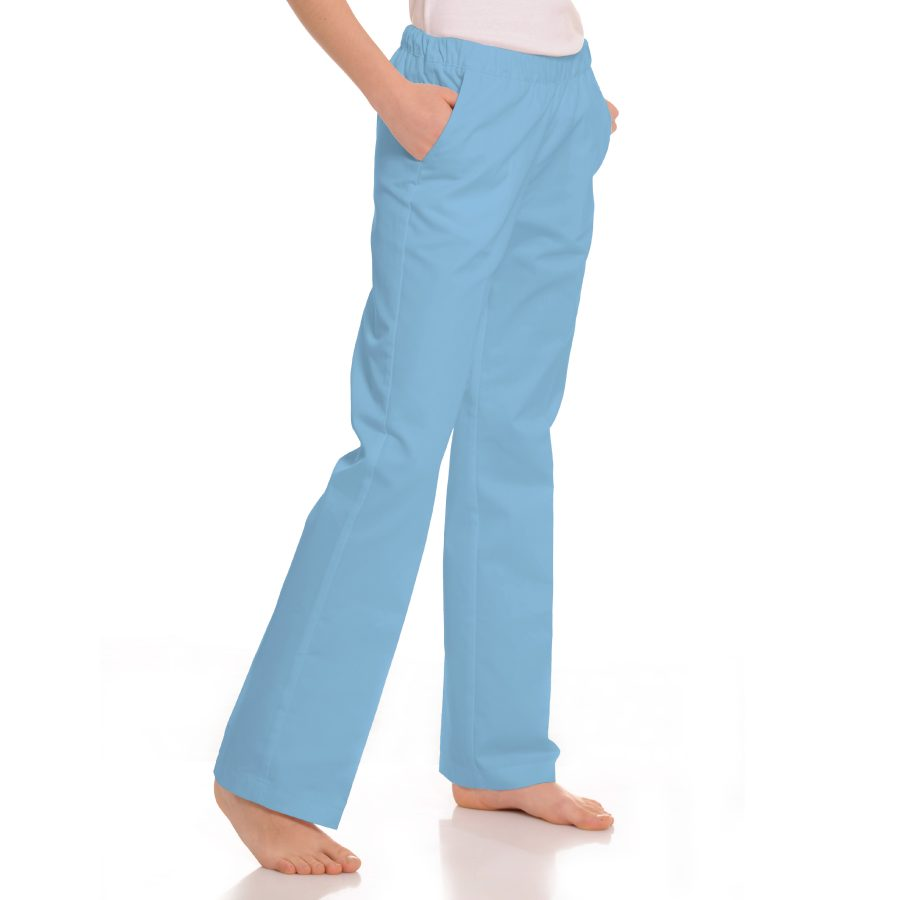Womens-Medical-trousers-with-pockets-Pavo-Blue