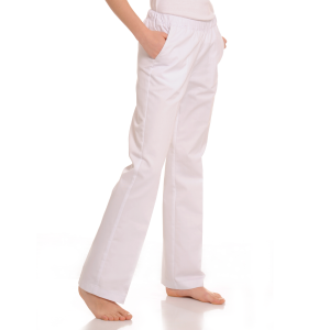 Womens-Medical-trousers-with-pockets-Pavo-White