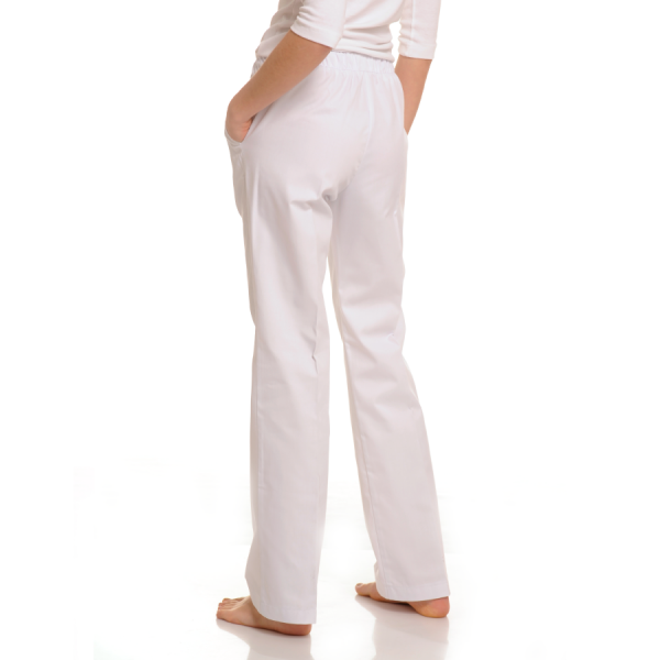 Womens-Medical-trousers-with-pockets-Pavo-White-Back