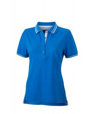 Womens-Polo-Shirt-Cobalt-White-T-Shirt-JN-946-1
