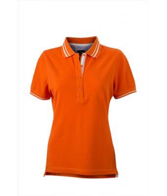 Womens-Polo-Shirt-DarkOrange-White-T-Shirt-JN-946-1