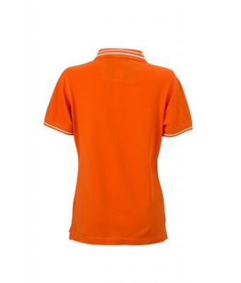 Womens-Polo-Shirt-DarkOrange-White-T-Shirt-JN-946-2