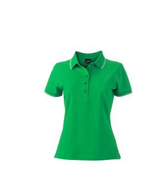 Womens-Polo-Shirt-FernGreen-White-T-Shirt-JN-985-1