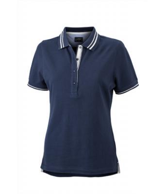 Womens-Polo-Shirt-Navy-White-T-Shirt-JN-946-1