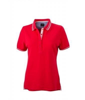 Womens-Polo-Shirt-Red-White-T-Shirt-JN-946-1