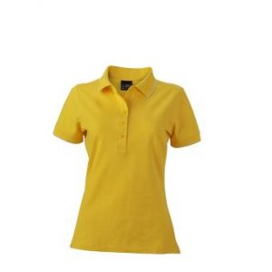 Womens-Polo-Shirt-SunYellow-White-T-Shirt-JN-985-1