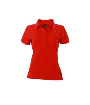 Womens-Polo-Shirt-Tomato-White-T-Shirt-JN-985-1