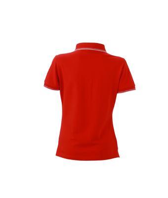 Womens-Polo-Shirt-Tomato-White-T-Shirt-JN-985-2
