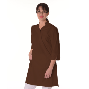 Womens-White-Coat-Musca-Brown