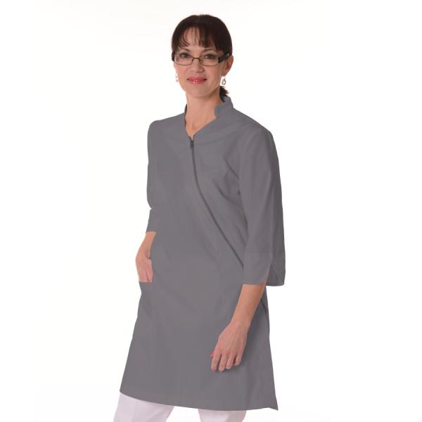 Womens-White-Coat-Musca-Grey
