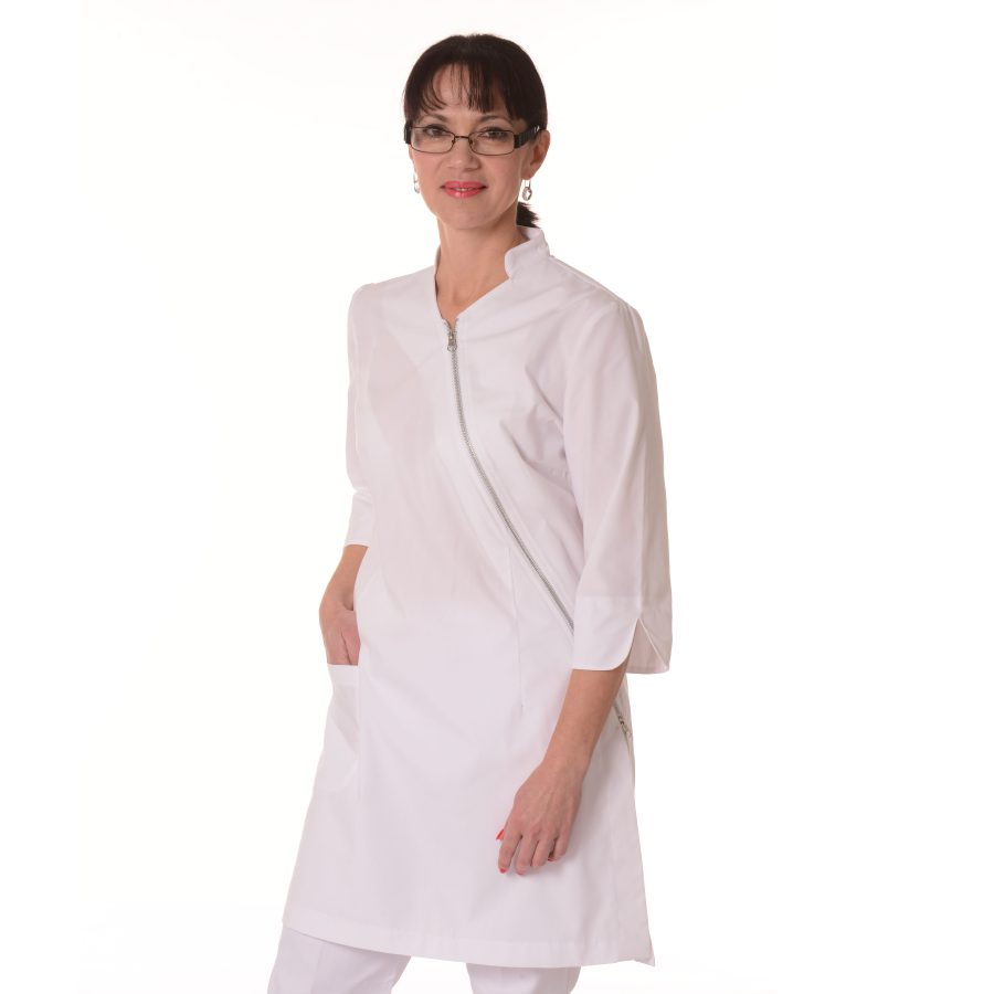 Womens-White-Coat-Musca-White