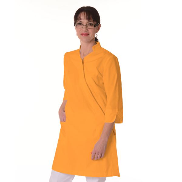 Womens-White-Coat-Musca-Yellow