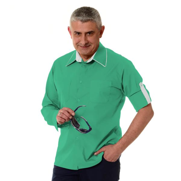 Embroidered-Work-Shirt-Оnda-Мen-Green