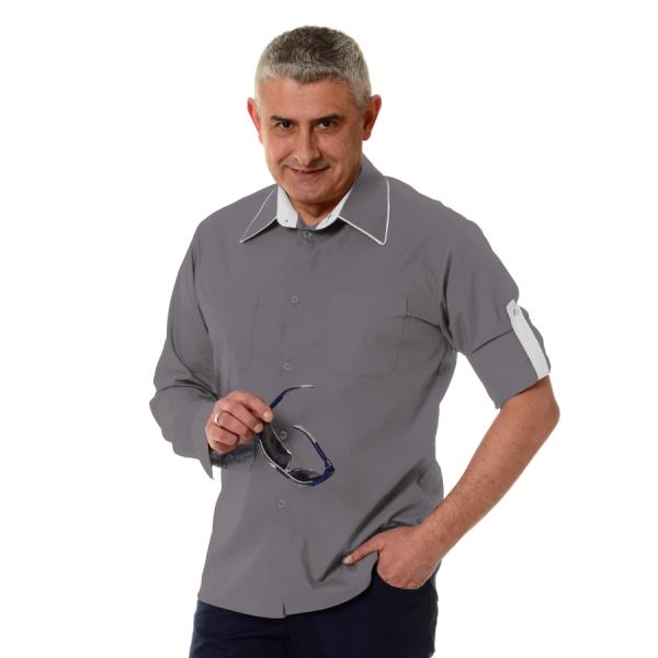 Embroidered-Work-Shirt-Оnda-Мen-grey