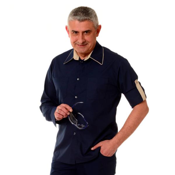 Embroidered-Work-Shirt-Оnda-Мen-navy