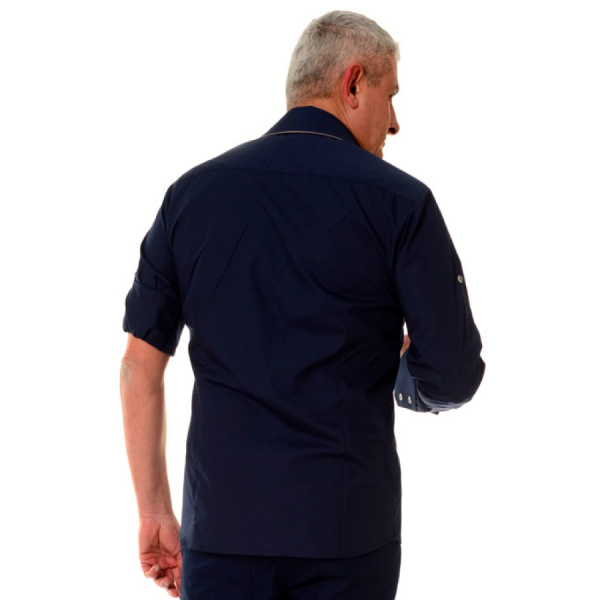 Embroidered-Work-Shirt-Оnda-Мen-navy-back