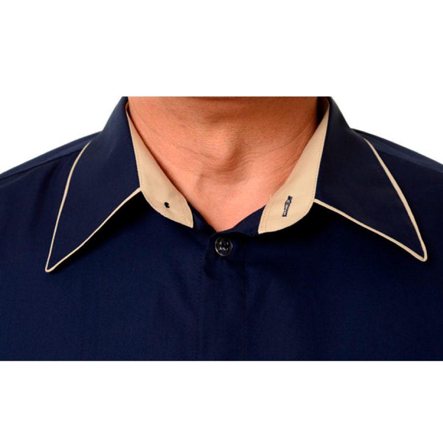 Embroidered-Work-Shirt-Оnda-Мen-navy-collar