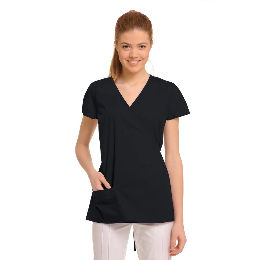 Ladies-Tunics-for-Work-Ara-Black