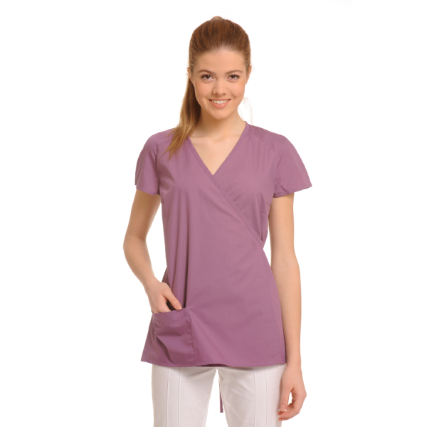 Ladies-Tunics-for-Work-Ara-Lilac