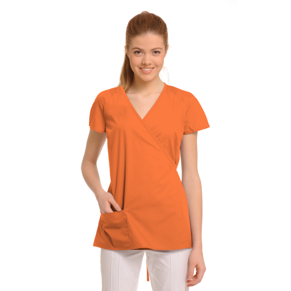 Ladies-Tunics-for-Work-Ara-Orange