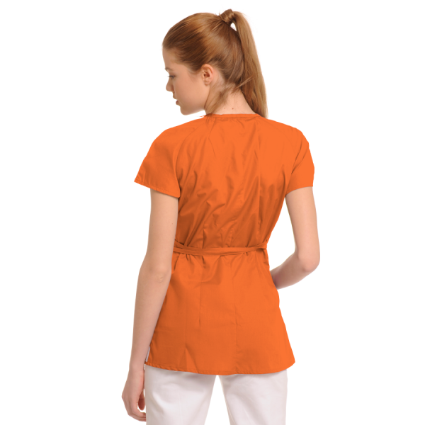 Ladies-Tunics-for-Work-Ara-Orange-back
