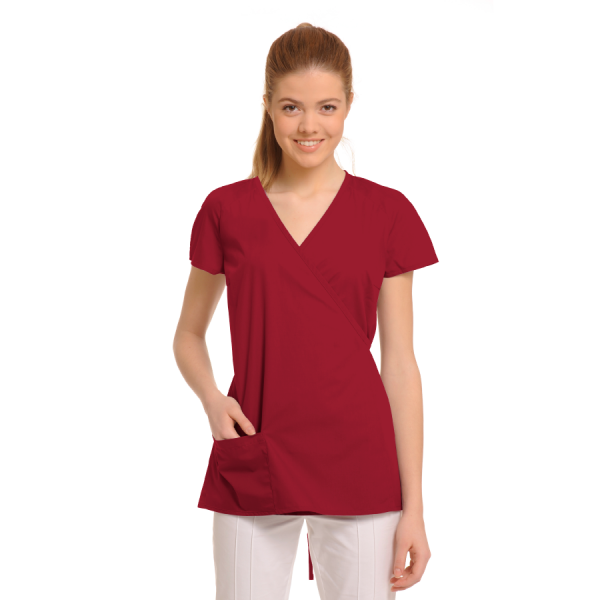Ladies-Tunics-for-Work-Ara-Red