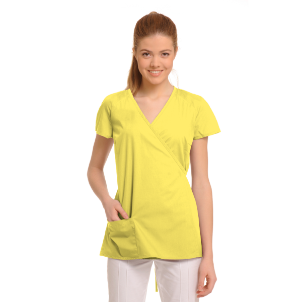 Ladies-Tunics-for-Work-Ara-Yellow