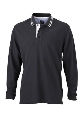 Long-Sleeve-Polo-Shirt-for-Men-JN968-black