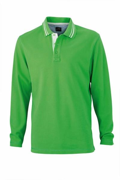 Long-Sleeve-Polo-Shirt-for-Men-JN968-green