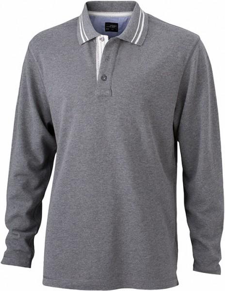 Long-Sleeve-Polo-Shirt-for-Men-JN968-grey-melange