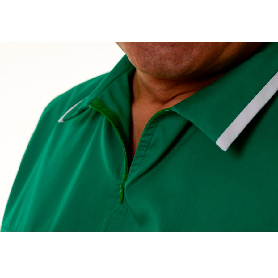 Medical-Tunics-for-men-Crater-Green-collar