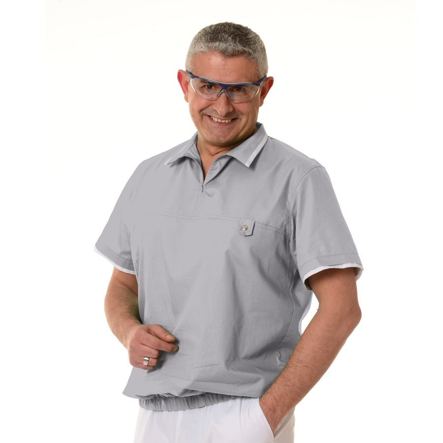 Medical-Tunics-for-men-Crater-Grey