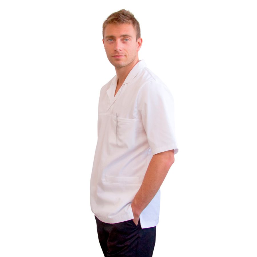Medical-Tunics-for-men-Dorado-Men-White