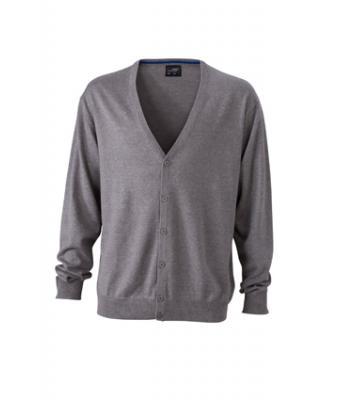 Mens-Cardigan-JN661-grey-heather