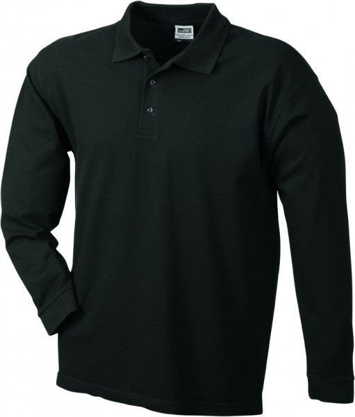 Mens-Long-Sleeve-Polo-Shirt-JN022-black