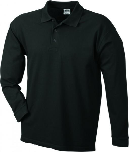 Mens-Long-Sleeve-Polo-Shirt-JN022-black