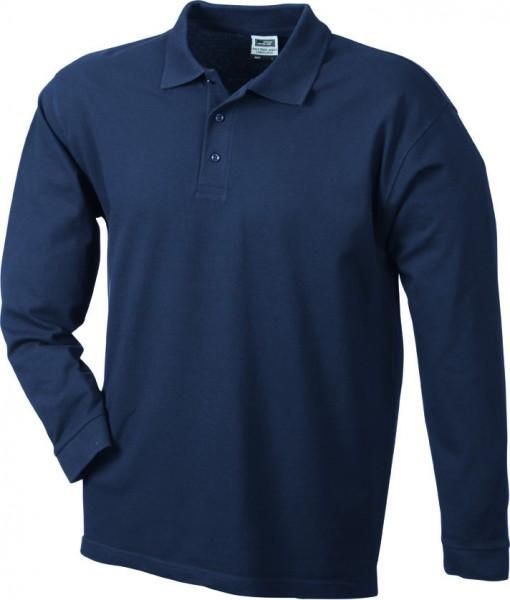 Mens-Long-Sleeve-Polo-Shirt-JN022-navy