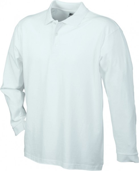 Mens-Long-Sleeve-Polo-Shirt-JN022-white