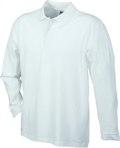 Mens-Long-Sleeve-Polo-Shirt-JN022-white