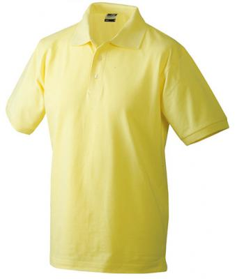 Mens-Polo-Shirt-JN070-Light-Yellow
