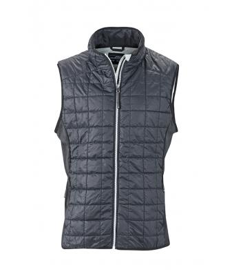 Men's Sleeveless Jacket-JN1114-black-1
