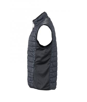 Men's Sleeveless Jacket-JN1114-black-3